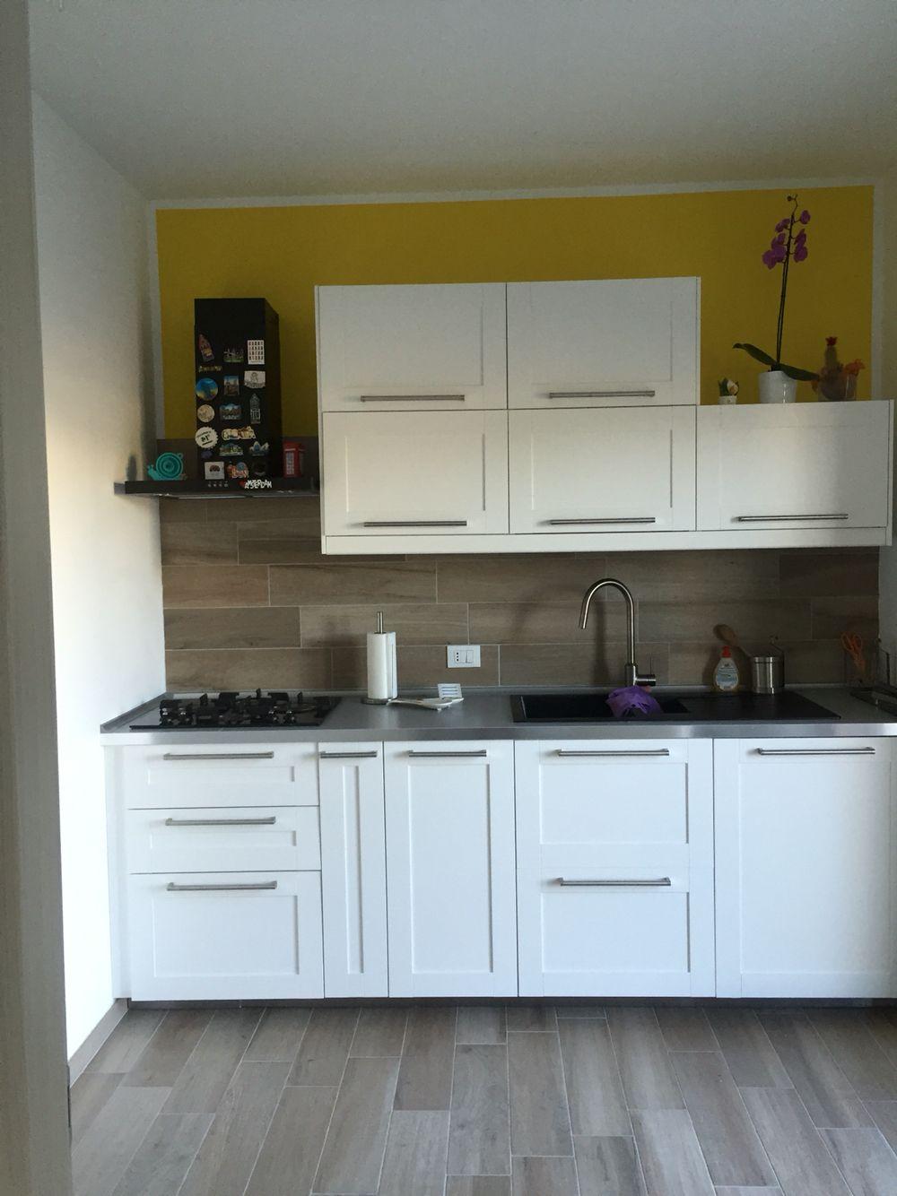 Cucina Ikea savedal  Idee per la casa  Pinterest  Kitchens Dark tile floors and Kitchen small