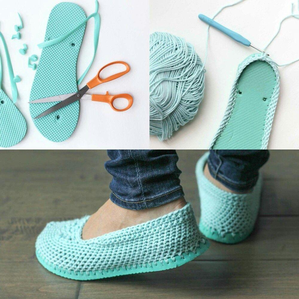 Crocheted Flops Flip Booties
