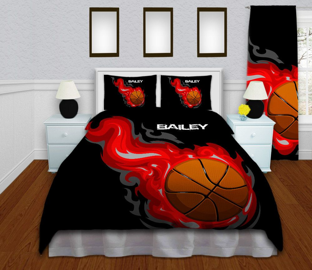 Personalized Comforter for Boys, Kids Sports Bedding