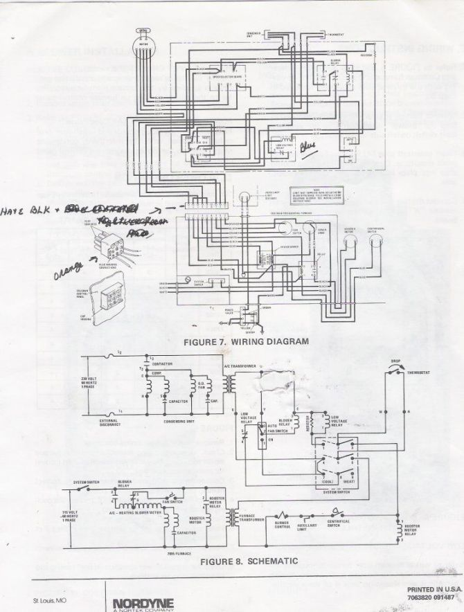 electric furnace wiring schematic  mobile home service