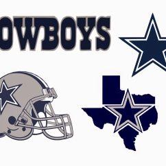 Cowboys Football Helmet Chair Chairo Crafting With Meek Dallas Svg Cowboy