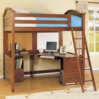 Full Size Loft Bed with Desk on Pinterest | Girls Bedroom ...