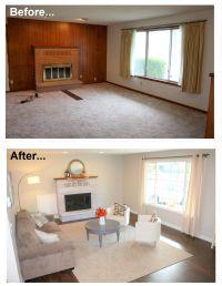 50+ Inspiring Living Room Ideas   Brick fireplace paint ...