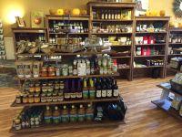 rustic wood retail fixtures displays shelves gondola store ...