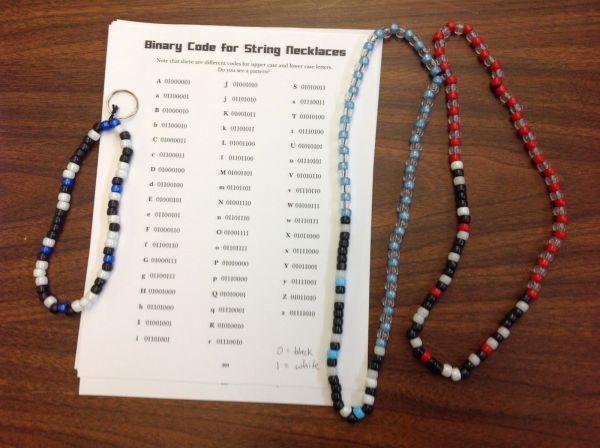 Lion Bookworm Craft Binary Code Bracelets