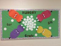 Hungry, Hungry Hippos bulletin board for grade level board ...