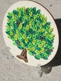 Unique Quilled Paper Art: Tree / Paper on Wood by ...