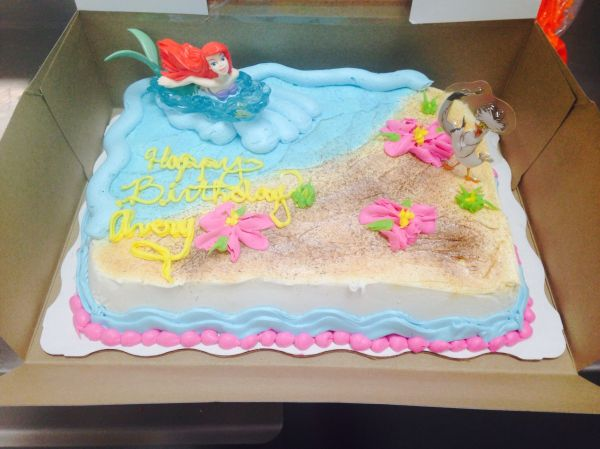 Little Mermaid Birthday Cake Walmart