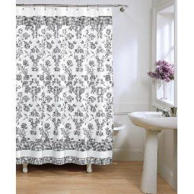 French Toile Chic Vs Cheap Shower Curtains French Toile