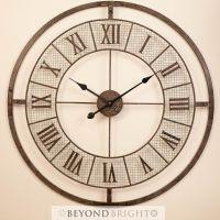 NEW Large 80cm MESH Metal Wrought Iron Wall Clock Vintage ...