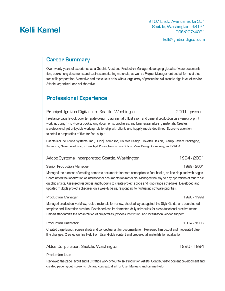 Project Manager Resume Action Words Resume Pdf Download