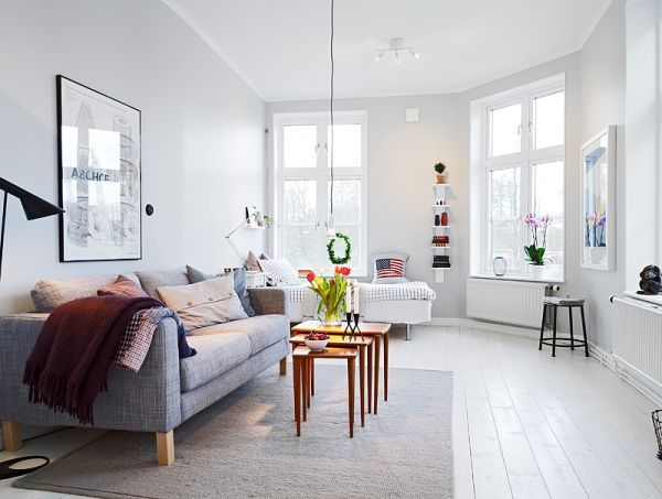 small one room apartments featuring  scandinavian decor also flats rh za pinterest