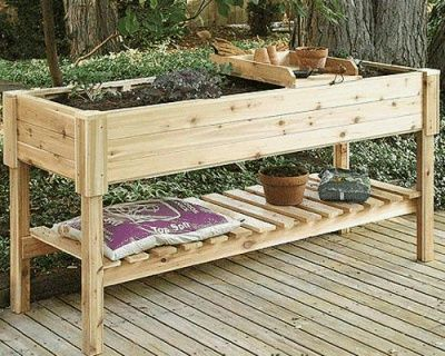 Raised Herb Garden Design On Highlander Wooden Raised Garden
