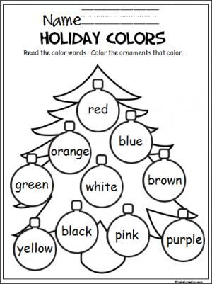 Free Christmas coloring activity to help Pre-K and