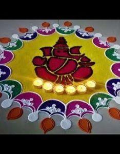 Super easy and innovative ganesh rangoli designs using bangles creative by shital mahajan also pin revathi ilango on other rangolies pinterest rh