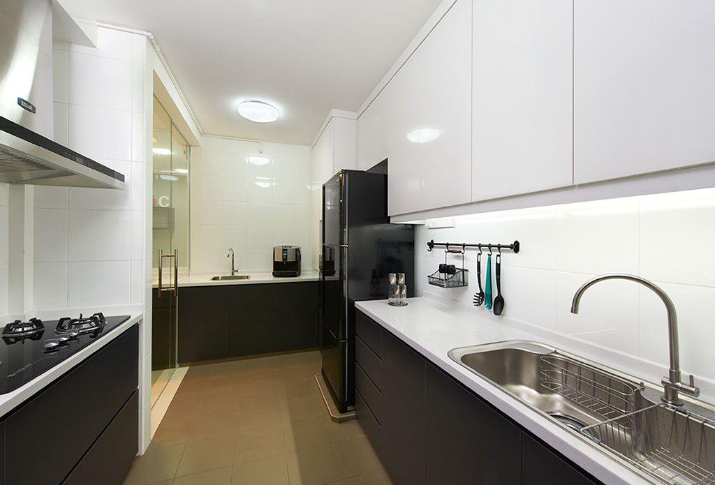 HDB Interior Design  Kitchen  Pinterest  Kitchen small Modern kitchens and Kitchen colour