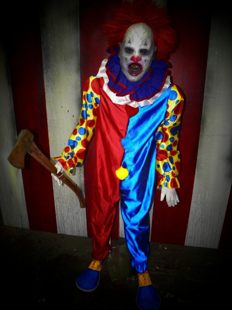 AX O The CLOWN Full Sized Haunted House Prop Halloween Circus