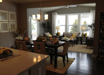 Sunroom Off Kitchen Design Ideas Log Home Kitchen With Island And