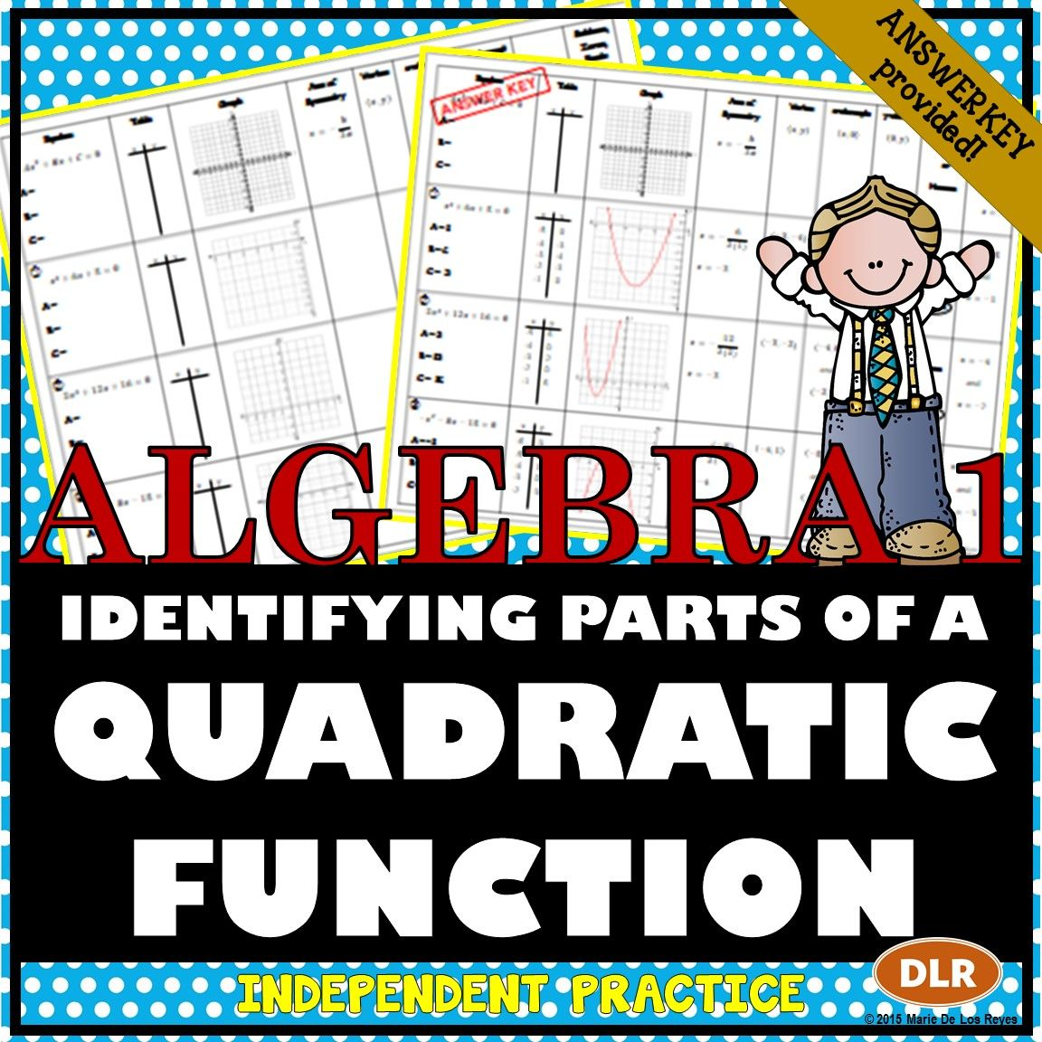 Identifying Parts Of A Quadratic Function Worksheet Great