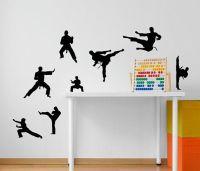 Martial Arts Karate 8 pack vinyl wall decal, karate ...