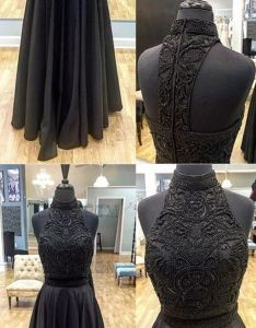 Two piece prom dress  line beautiful long black cheap vb african dresses vintage and also rh pinterest