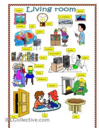 Living room. worksheet - Free ESL printable worksheets ...