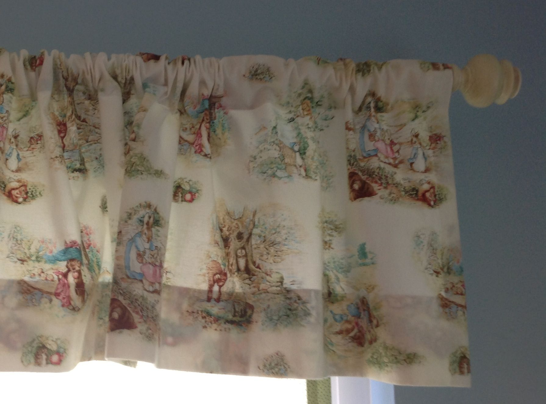 Finn's Peter Rabbit Curtains Are Made By My Mom We Found Cute