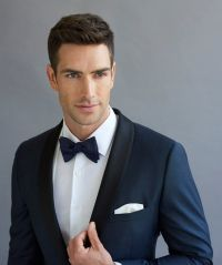 Peppers Formal Wear. Dark blue tuxedo dinner suit. Shawl ...