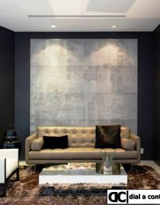Black and wood sitting room mansfield designed by amit apel design great idea for mdf panel system against wall also nb in  year from now everything your stressing about wont even rh za pinterest