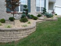 Front Yard Retaining Walls & Landscaping | Retaining wall ...