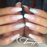 French Fade Nails + Crystals #tammytaylor | Nails done at ...