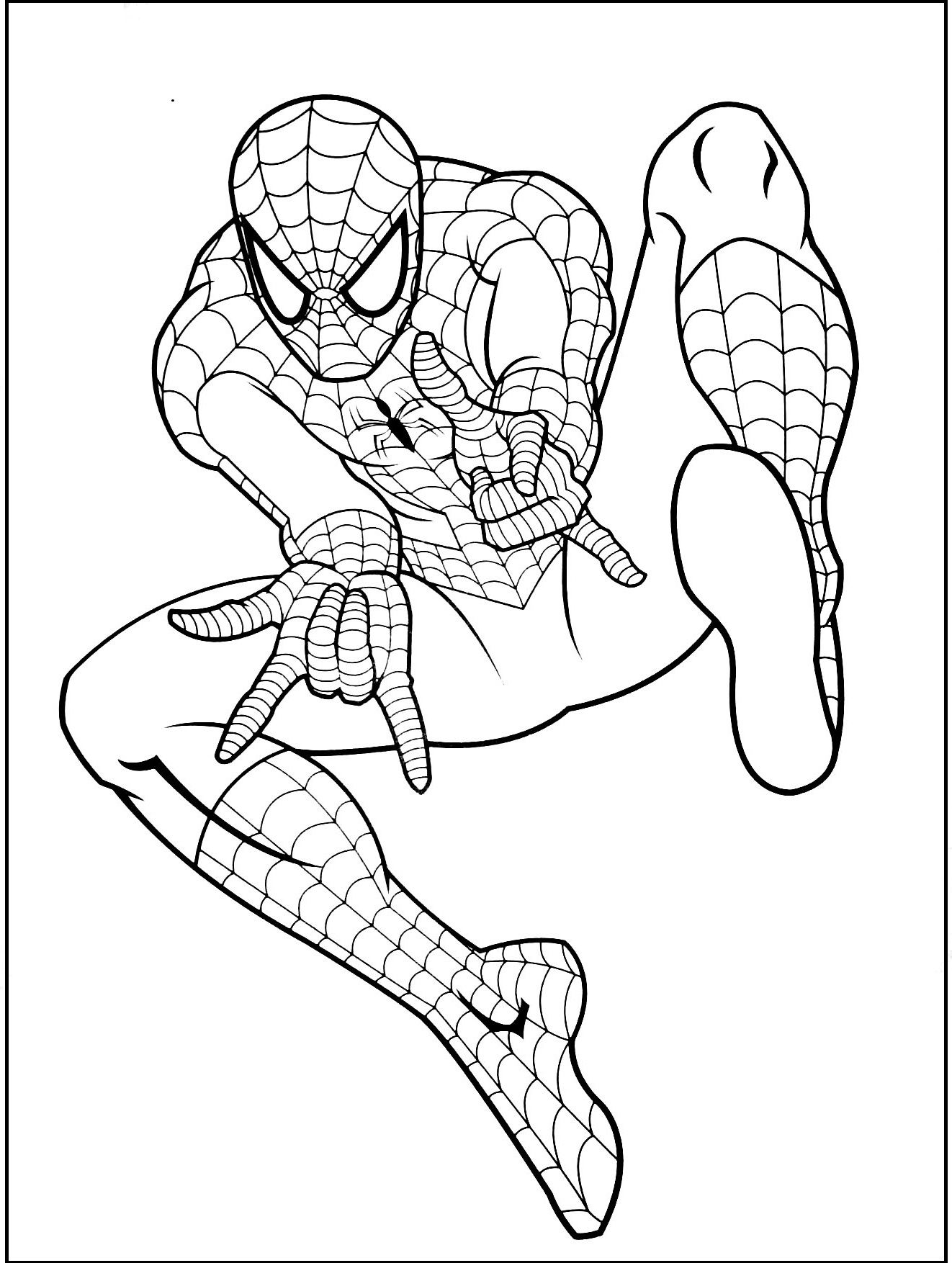 Spiderman Gratuit Coloring Picture For Kids