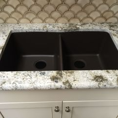 Composite Countertops Kitchen Commercial Floor Cleaning Mocha Brown Granite Undermount Sink