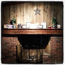 Barn Wood and Brick Fireplaces