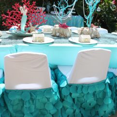 Chair Covers Craft Ideas Dark Brown Wooden Dining Chairs Mermaid Party Beautiful Custom Made Tail Kids