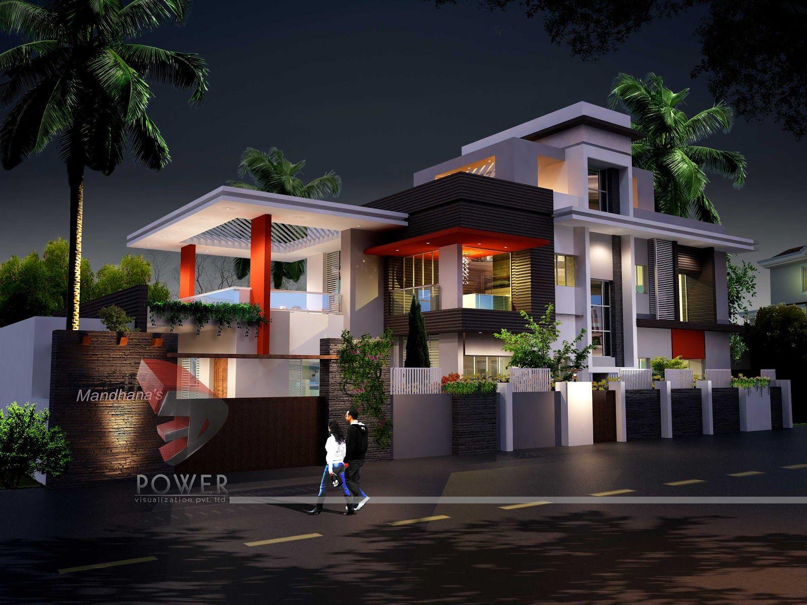 3d Architecture Rendering Ultra Modern Home De 6077 Wallpaper
