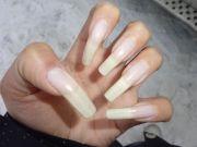 long real natural nails