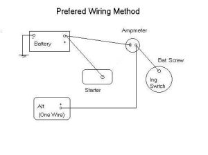 3 wire alternator wiring diagram  Google Search | Bronco