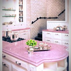Pink Countertops Kitchen Appliance Done Right Pretty In Pinterest