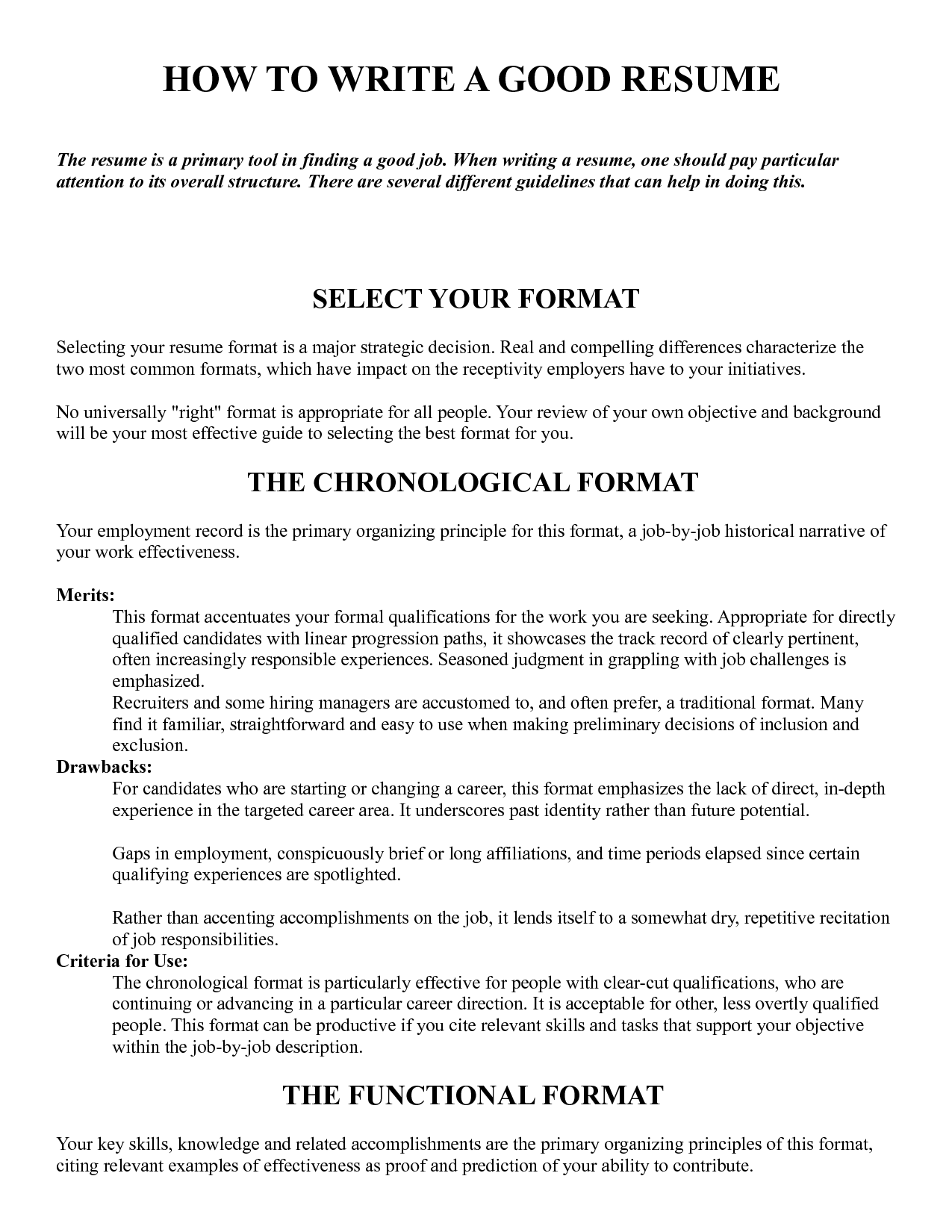 How To Write Resume Letter For Job How Write A Good Resume Impressive Cvs Pinterest
