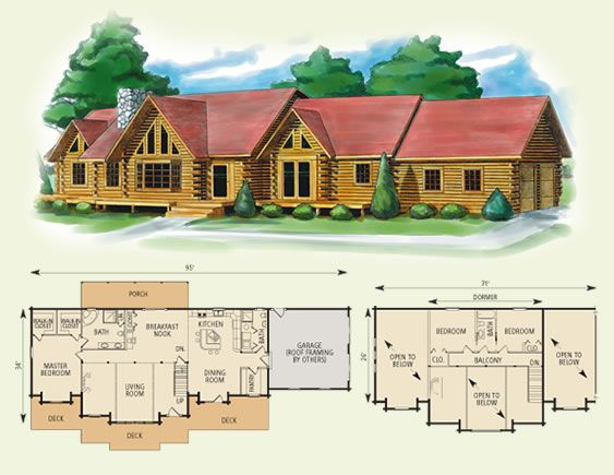 1000 Images About Log Cabin Dream Home On Pinterest. 4 Bedroom Log Homes   Bedroom Style Ideas