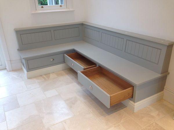 Kitchen Corner Bench Seating with Storage