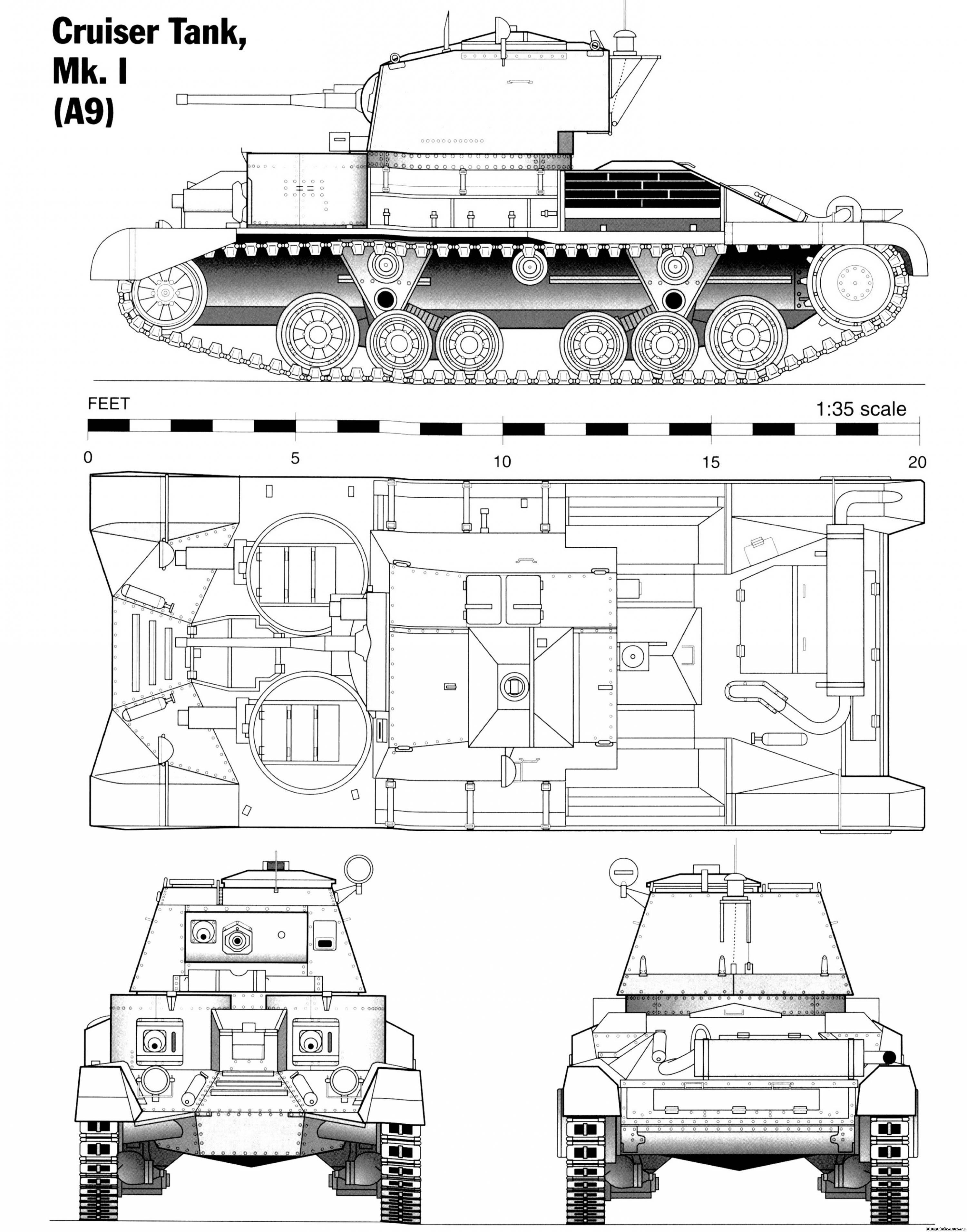 Cruiser Tank Blueprint