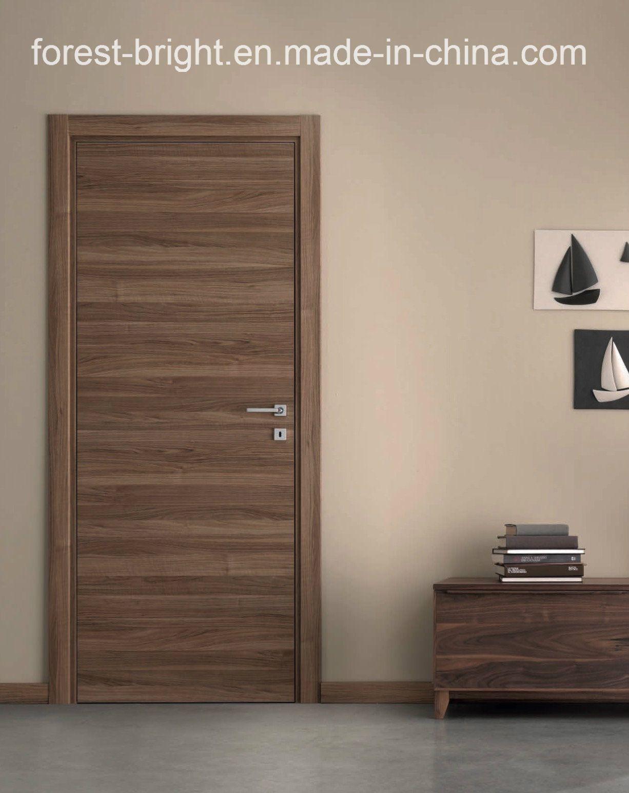 Natural Veneered Wooden Flush Door Design Mdf Living Room Door