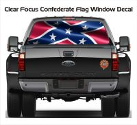 Confederate Dixie Flag Back Window Sticker. Confederate