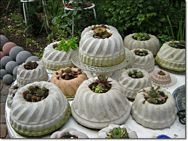 gartendeko selbstgemacht beton reimplica gartengestaltung, Gartenarbeit ideen