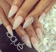 clear stiletto nails with cute