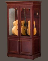Guitar display case or cabinet that is Humidity controlled ...