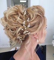 beautiful messy updo wedding hairstyles