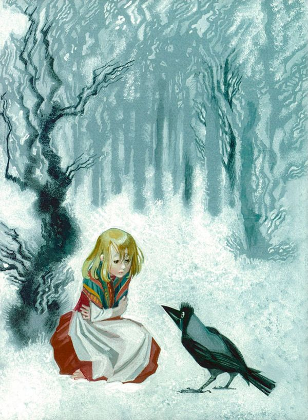 Snow Queen Fairy Tale Illustrations